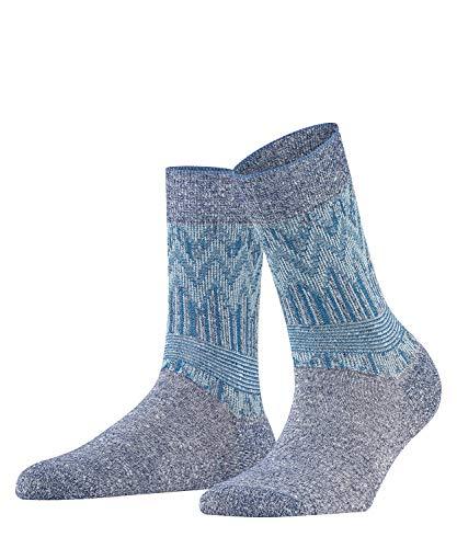 FALKE Damen Socken Mexicali, Baumwollmischung, 1 Paar, Blau (Dark Navy 6370), Größe: 41-42