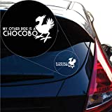 Yoonek Graphics My Other Ride is a Chocobo Final Fantasy Inspired Decal Sticker for Car Window, Laptop and More. # 1246 (4' x 7.1', White)