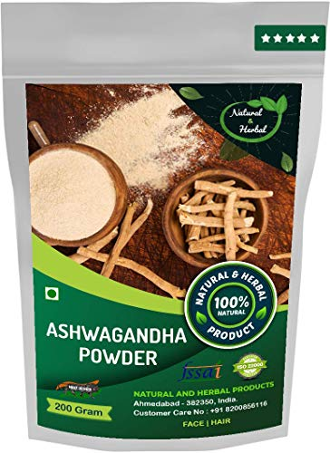 Ashwagandha Powder (Bentonite Clay, Indian Ginseng) For Height Growth, Skin Care(Face Mask), Weight Loss and Hair Growth – 200Gm