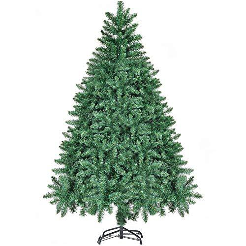Árbol de Navidad 180cm CHORTAU, 800 puntas Árbol de Navidad Decoraciones navideñas verdes, Material de PVC, Ignífugo, Árbol de Navidad artificial impermeable con soporte de metal de estudio