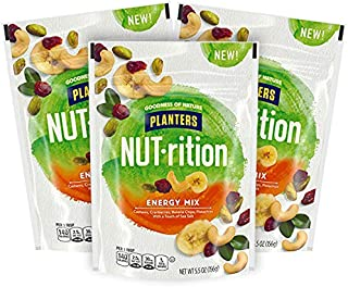 Planters NUT-rition Energy Mix Bag, 5.5 Ounce, 1 CT (Pack of 3)