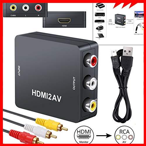 1080P HDMI naar RCA AV-omvormer, composiet CVBS-audio- en videoadapter voor PAL NTSC