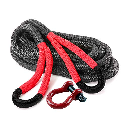 Ranger Rope 3/4' x 20' Commercial Reliability Kinetic Recovery Tow Rope by Ultranger (Breaking Strength 9 Tons 20000 LBs)