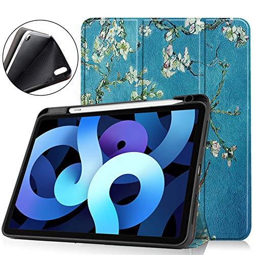iPad Air4 Funda Protectora para Tableta De 10.9 Pulgadas Anti-Caída Y Resistente Al Desgaste con Ranura para Bolígrafo Flip-Up Hibernation Flip TPU Ranura para Bolígrafo Soft Shell,01,iPad Air4 10.9