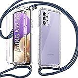 Pnakqil Funda con Cuerda para Samsung Galaxy A32 5G +1 x Película de...