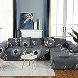 Funda de sofá, protección antideslizante, elasticidad simple todo incluido, juego de chaise longue doble individual, para sala de estar, dormitorio, cocina, comedor