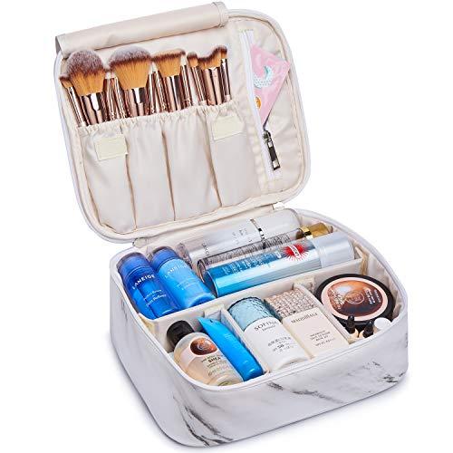 Reise-Make-up-Tasche Große Kosmetiktasche Make-up-Tasche Organizer für Frauen und Mädchen (Marmor)