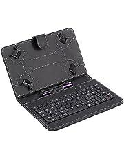 غطاء/حافظة حماية من جلد البولي يوريثين مع لوحة مفاتيح قابلة للطي