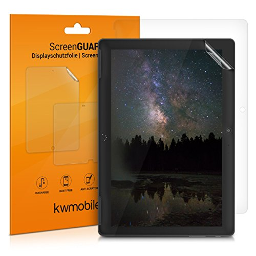 kwmobile 2X Protector de Pantalla Compatible con bq Aquaris M10 - Salvapantallas Transparente para Tablet