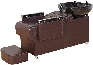 DNNAL Shampoo Chair, Backwash Unit Shampoo Bowl Barber Shop Flushing Bed Hairdressing Sink Chair for Spa Beauty Salon Equipment