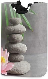 N\A Panier à Linge, Japonais Zen Pierre Lotus paniers de Rangement de Linge vêtements Pliables Sac Organisateur de Jouets ...