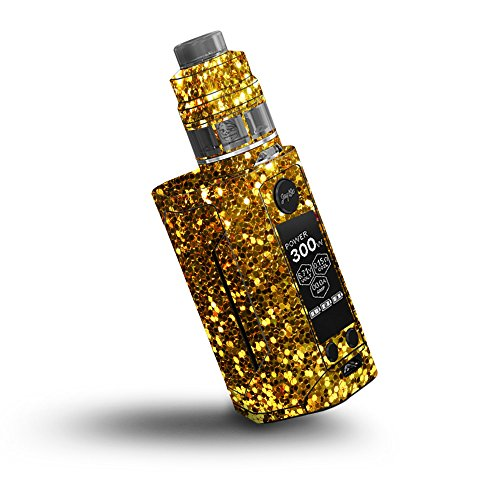 MightySkins Skin Compatible with Wismec Reuleaux RX GEN3 300W - Gold Dazzle | Protective, Durable, and Unique Vinyl Decal wrap Cover | Easy to Apply, Remove, and Change Styles | Made in The USA