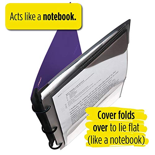 Five Star Flex Hybrid NoteBinder, 1-1/2 Inch Binder with Tabs, Notebook and 3 Ring Binder All-in-One, Purple (72518) Photo #8