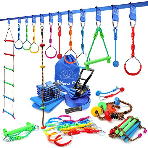 Rainbow Craft Obstacle Course for Kids