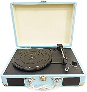 Retro Record Player 33RPM Antique Gramophone, Turntable Disc Vinyl Audio 3-Speed Aux-in Line-out USB DC 5V Gramophones