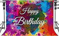 HiYash 5x3ft 抽象絵画の背景HD誕生日の背景誕生日のテーマパーティー写真小道具誕生日パーティー赤ちゃんの誕生日の装飾バナー美しい記憶の記録を持つ家の装飾