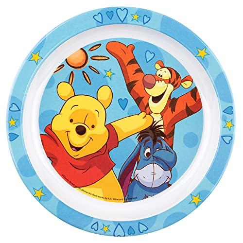 P : OS 68910 Assiette Plate Disney Winnie l'Ourson, Mélamine, Diamètre 22 cm (Assortie)