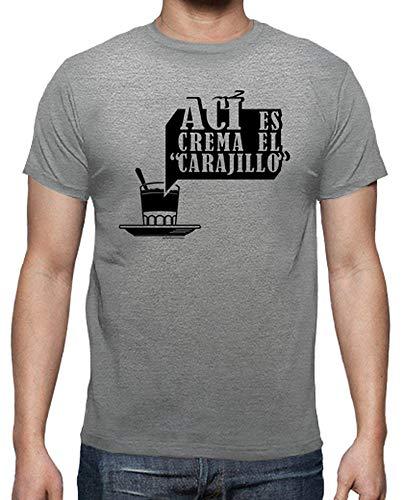 latostadora - Camiseta AC para Hombre Gris vigoré XXL