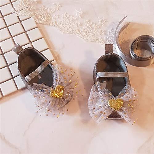 Youpin Zapatos de bebé de 0 a 1 año de edad, zapatos de bebé de 0 a 6 a 12 meses de tela suave de princesa zapatos de primavera y otoño (edad del bebé: 7 a 12 meses, color: 10)