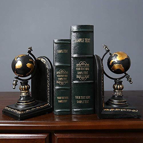 LHQ-HQ American Country Retro Creative Book-Block Bürodekoration Home Study Desktop-Modell Buchständer Buch for Buch Clip Globe Dekoration 23 * 10 * H21cm stilvoll und schön