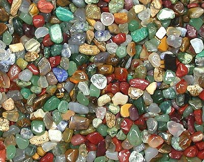Mini Trommelsteine (1kg) - hochwertiger Edelsteinmix - einzigartige Auswahl - 3-8mm große Steine - von AMAHOFF