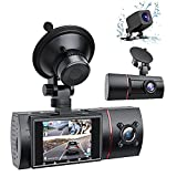 2021 Upgrade| LAMONKE 3 Channel Dash Cam Front Rear and Inside 1080P Three Way Dash Camera for Cars, 2 Inch IPS Screen, IR Night Vision, Loop Recording, 24 H Parking Monitor for Taxi Driver