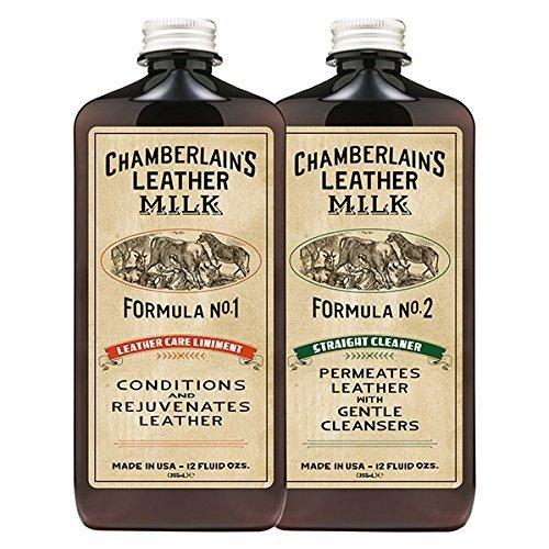 Chamberlain's Leather Milk - nr. 1-2 - Set van lederen conditioner & reiniger - natuurbasis/niet giftig - 2 pads 2 maten 0.35 L