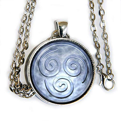 Avatar Airbender Air Inspired symbol - pendant necklace - HM