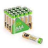 AAA BATTERIEN: dank spezieller Super Alkaline Formel besonders langlebig und auslaufsicher, 1,5V, Maße 10,5 x 44,5 mm UNIVERSELL: einsetzbar für den tagtäglichen Gebrauch in einer Vielzahl von Geräten - ideal für Fernbedienung, Digitalkamera, Wecker,...