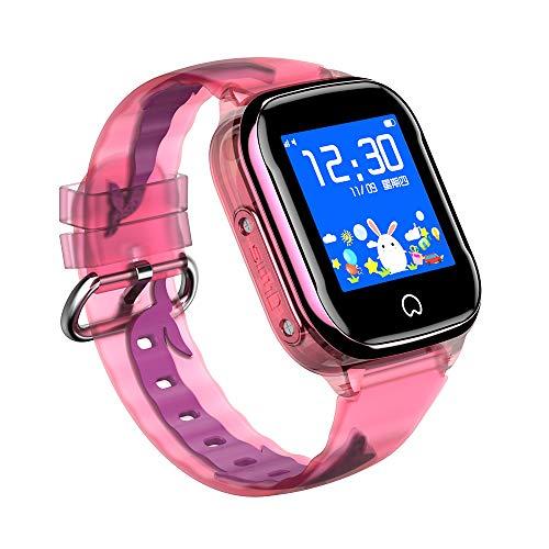K21 - Reloj inteligente para niños con rastreador GPS, pantalla táctil impermeable con cámara, monitoreo, reloj de pulsera antipérdida para niños
