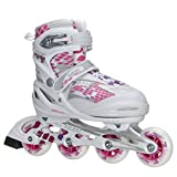 Roces pour Enfant Filles Moody Fitness Rollers pour Lames Couleur Choix 400778, 40078-002-us 13JR-3, White/Pink Lightning, US 13jr-3