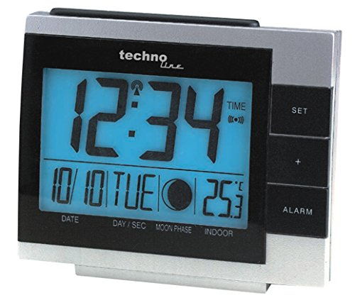 Technoline Funkwecker WS 8055 mit Innentemperaturanzeige und Mondphasenanzeige
