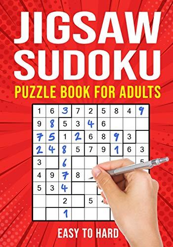 Jigsaw Sudoku Puzzle Book for Adults: Irregular Sudoku Japanese Math Logic Puzzles | Easy to Hard | 156 Puzzles