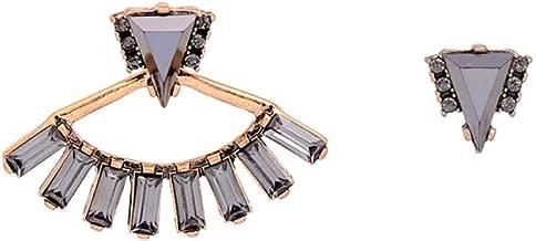 POLSMX Women Triangle Asymmetric Earrings Charming Stud Earrings Fashion Jewelry Retro Accessories