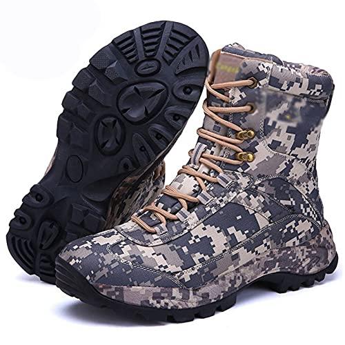 GUOANFG Botas De Senderismo Botas Deportivas De Montaña Zapatillas De Escalada Botas De Caza Estilo Caliente Hombres Zapatos De Senderismo Invierno Al Aire Libre,B-46 EU