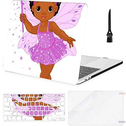 Macbook Air 11'(2010-2015),a1370 A1465 Case,Plastic Illustration Cute Little Baby Fairy Fly Hard Shell Case With Keyboard Cover & Screen Protector & Cleaning Brush