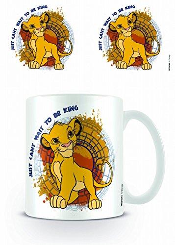 1art1 König der Löwen, Just Can't Wait to Be King Foto-Tasse Kaffeetasse (9x8 cm) Inklusive 1x Überraschungs-Sticker