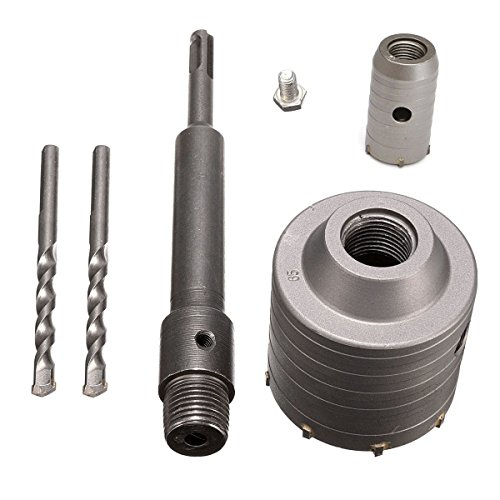 Alwaysuc 65mm + 30mm SDS Plus Shank Hole Saw Cutter Concrete Cement Stone Wall Drill Bit