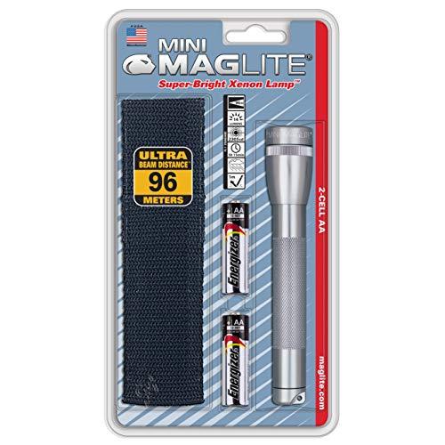 Mag-Lite M2A10H Mini-Mag Lampe de Poche Métal , Mixte adulte, Argent, 14.5 cm