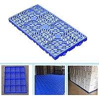 LIANGJUN-Palés Pallet plástico Tablero A Prueba De Humedad Cuadrícula Almacenamiento Bienes Almacén Supermercado Box Partners, Cargar Los Portes (Color : Blue-1pack, Size : 60x30x3cm)