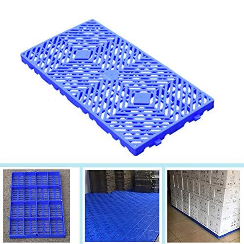 LIANGJUN-Palés Pallet plástico Tablero A Prueba De Humedad Cuadrícula Almacenamiento Bienes Almacén Supermercado Box Partners, Cargar Los Portes (Color : Blue-5pack, Size : 60x30x3cm)