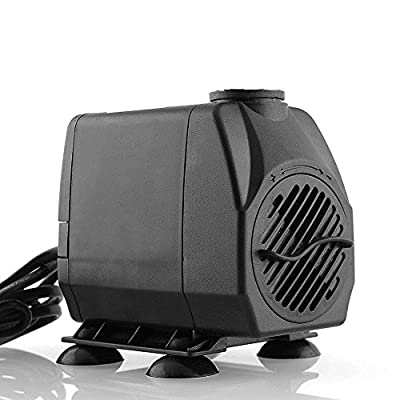 amzdeal Pompe submersible Aquarium pompe Noir