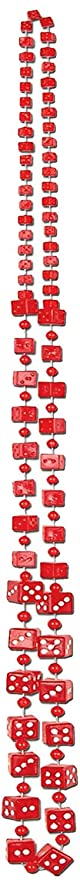 Dice Beads (red) Party Accessory  (1 count) (1/Card)
