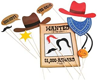 U.S. Toy zxc Cowboy Photo Booth Props, Pack of 1, Multi