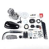 Gdrasuya10 100CC Bicycle Engine Kit, 2-Stroke Gas Motorized Bike Motor Kit, Full Set Petrol Gas Motor Engine Kit, Super Fuel-efficient Bicycle Engine Complete Kit for Most 26' /28' Bikes
