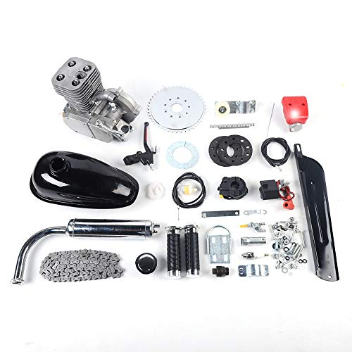 100cc Kit de Conversión de Bicicleta de Gasolina, Motor de Gasolina para Bicicleta Motorizada de 2 Tiempos, 36/44 Dientes Piñón Motorizado de Bicicleta (36 Tooth Sprocket)