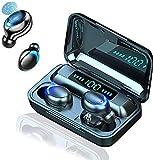 Auriculares inalámbricos Bluetooth con Caja de Carga de 1200 mAH, Auriculares Deportivos inalámbricos con Pantalla LED de Control táctil, Auriculares Bluetooth IPX7 a Prueba de Agua, Precio Especial