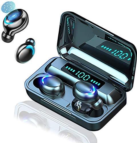 Auricolare Bluetooth 5.0 auricolare wireless riduzione del rumore stereo heavy bass HIFI ,auricolare sportivo in-ear impermeabile touch control IPX7, con microfono, adatto per smartphone