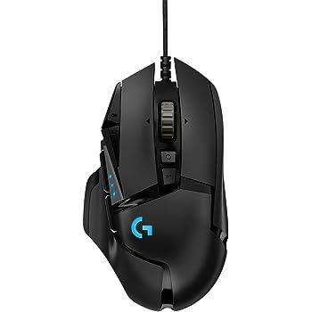 Logicool G ゲーミングマウス G502RGBh ブラック usb 有線 ゲームマウス 多ボタン HERO16Kセンサー LIGHTSYNC RGB G502 Hero 国内正規品 2年間メーカー保証