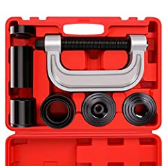 ESSENTIAL TOOL FOR BALL JOINT SERVICE - Use the ORION MOTOR TECH Ball Joint Press Set Ball Joint Tool / Bushing Removal Tool with 4WD Adapter to effortlessly remove press fit parts including ball joints, U-joints, brake anchor pins, and more on most ...